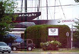 Alinghi and BMW Oracle at Newport Shipyard