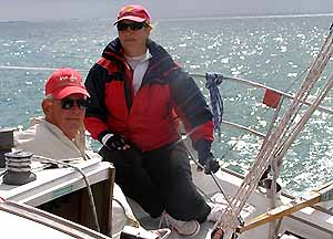 Vee Jay's Lisa driving, Tim starboard trimmer
